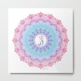 Tribal Mermaid Mandala Metal Print