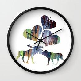 Moose couple Wall Clock