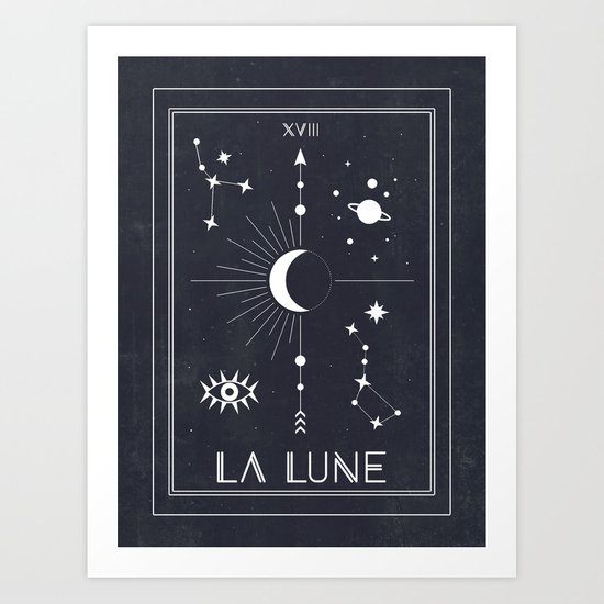 The Moon or La Lune Tarot by cafelab