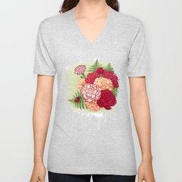 Full bloom | Ladybug carnation Unisex V-Neck