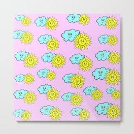 Cute baby design in pink Metal Print