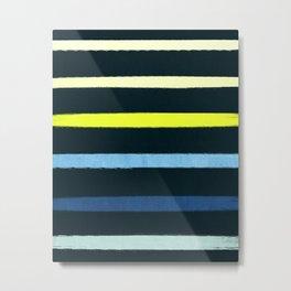 Classic Stripe - Navy, Neon, Fluro, Blue, Girly Trendy Cell Phone Case Metal Print
