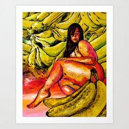 Banana Boat Remixed  Art Print