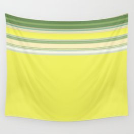 Bright Yellow Green Stripes Wall Tapestry