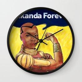 Wakanda Forever Wall Clock