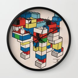 Block Hound Wall Clock