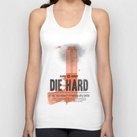 die hard Tank Tops featuring Die Hard (Full poster variant) by Wharton