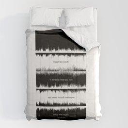 Lab No. 4 - Dave Mathews Band Crash into me Songs Waveform Lyrics Quotes Poster Comforters