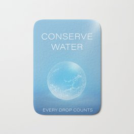 Water Conservation Poster Bath Mat