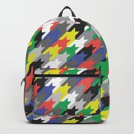 Multicolor houndstooth Backpack
