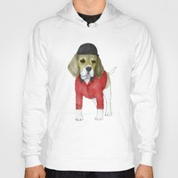 beagle Hoodies featuring Beagle by Barruf
