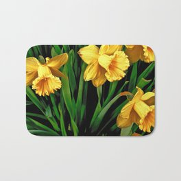 Bouquet Of Golden Spring Daffodils Bath Mat