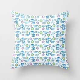 Puppies Rule Pattern Throw Pillow