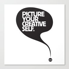 Picture Your Creative Self Canvas Print
