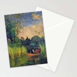 Dusk in the Rushes, Alexandria Bay - Digital Remastered Edition Stationery Cards