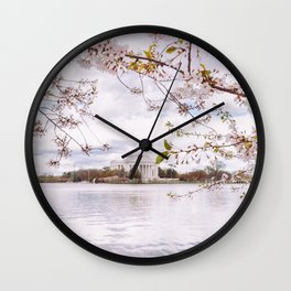 Washington DC Cherry Blossoms - Thomas Jefferson Memorial III Wall Clock