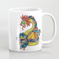 mexican Mugs featuring Mexican Gods by Andrea ED