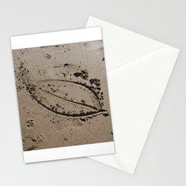 Cornwall Beach Photo 1758 Leaf Sketch Stationery Cards