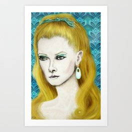 1960's Retro Style Female Portrait Art Print