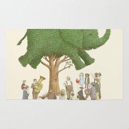 The Night Gardener - Elephant Topiary Rug