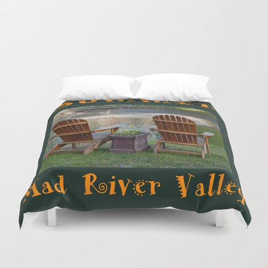 Summer By the River in the Mad River Valley, Vermont Duvet Cover