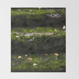 Mossy steps Throw Blanket