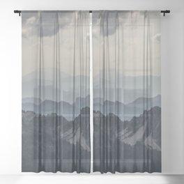 Mount Saint Helens Sheer Curtain