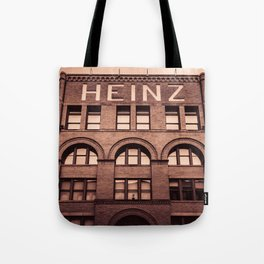 Pittsburgh Heinz Historic Building Print Tote Bag