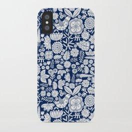 midnight blue garden party iPhone Case