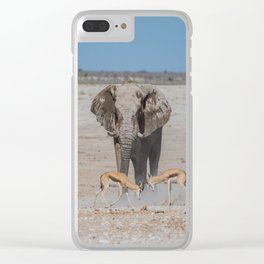 Elephant Safari Clear iPhone Case