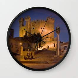 Medieval castle in Portugal Wall Clock
