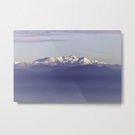 Snowy Italian Apennines mountains Metal Print