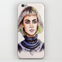 marc jacobs iPhone & iPod Skins featuring Cara/Marc Jacobs 2014 by vooce & kat