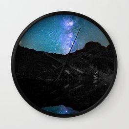 Milky Way Mountain Wall Clock