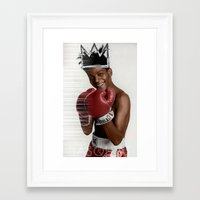 basquiat Framed Art Prints featuring Basquiat * by zombielombii