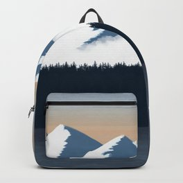 Olympic Mountains Sunset 2 Backpack