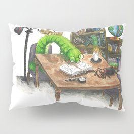 Little Worlds: The Library Pillow Sham