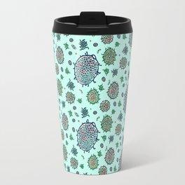 Aqua Bulbous Microbes  Travel Mug