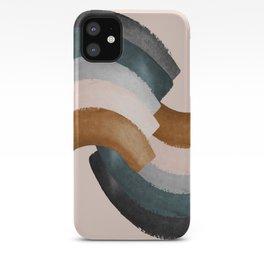 Brushstroke rainbows iPhone Case