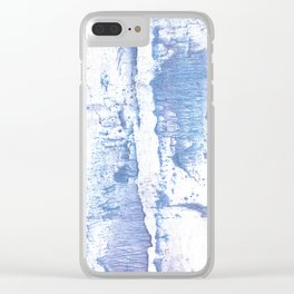 Lavender blurred watercolor design Clear iPhone Case