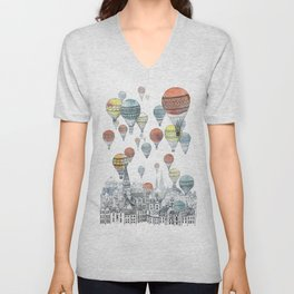 Voyages over Edinburgh Unisex V-Neck