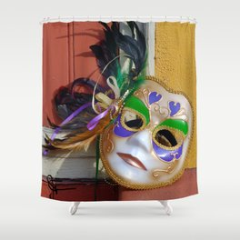 New Orleans Mardi Gras Mask Shower Curtain