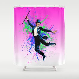 Astaire Fred, still dancing. Shower Curtain