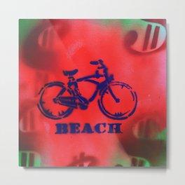 Beach Bike - Signed Robert R Print Metal Print