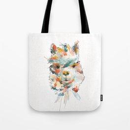 + Watercolor Alpaca + Tote Bag