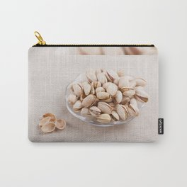 open pistachio nuts in shell Carry-All Pouch