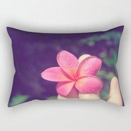 pua melia pink tropical plumeria hawaii Rectangular Pillow