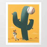 league Art Prints featuring Cactus League by John W. Tomac