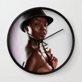 Holding Music Close Wall Clock