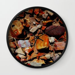 Petrified Wood of the Desert Wall Clock